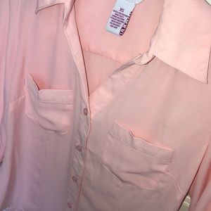 Candie's Tops - •Candies pink button down blouse•